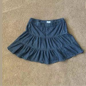 LOFT Skirts - Ann Taylor LOFT Blue Denim Jean Pleaded Skirt 12